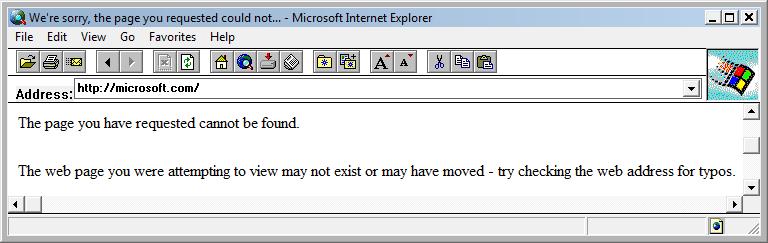 Internet Explorer 1.5  sur Windows 7