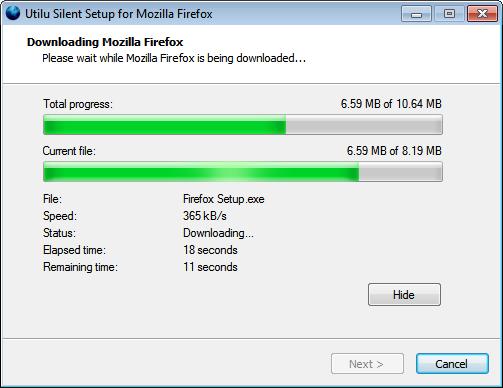 Utilu Silent Setup for Mozilla Firefox full screenshot
